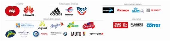 Media Maratón EDP Rock 'N' Roll Madrid 2017 patrocinadores