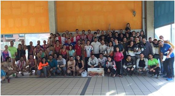 Reto deportivo 100 x 100 nado solidario en la almudena for Piscina la almudena